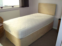 Single Divan Bed with Headboard, unused.