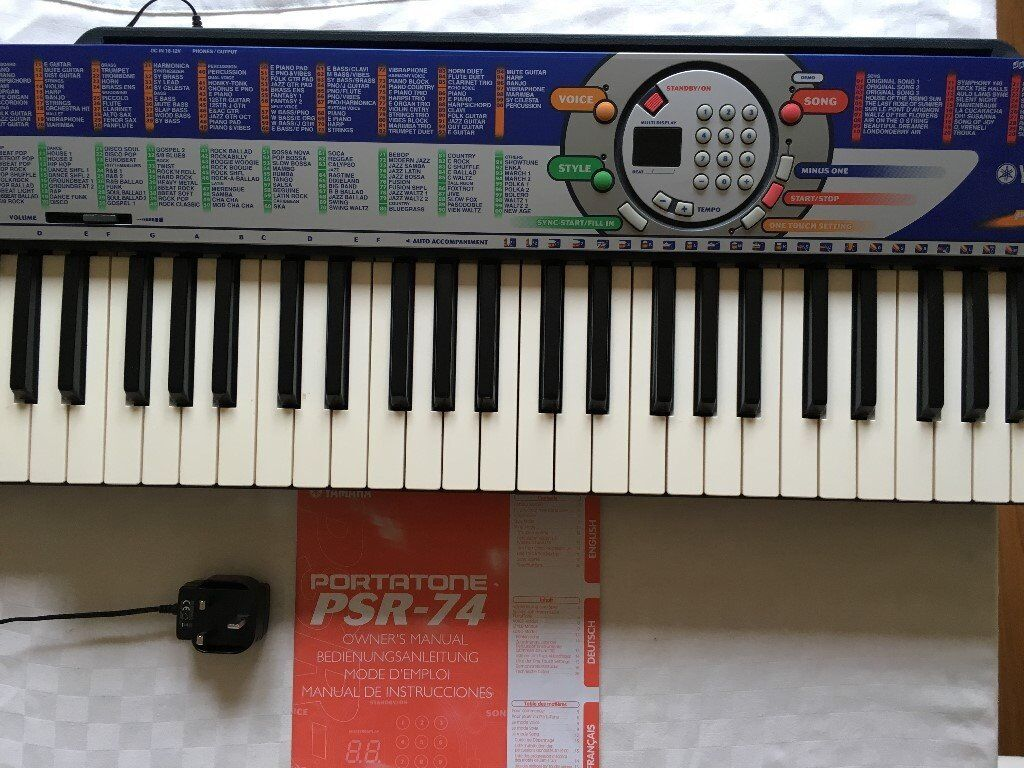 yamaha psr 74 keyboard for sale in totton hampshire gumtree. Black Bedroom Furniture Sets. Home Design Ideas