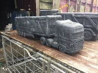 3 foot Scania lorry garden ornaments planters concrete or graves