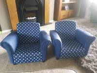 Two children's arm chairs