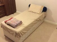 Single bed diwan with matress and two drawers from non smoking home for urgent sale