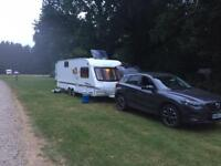 Swift caravan twin axle twin fixed bunk beds