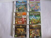 Nintendo DS Jewel Quest Puzzle Game Bundle x 6