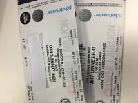 2x ELO tickets Manchester 5th October