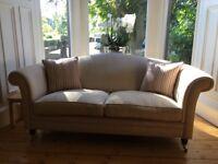 Three Laura Ashley sofas and matching footstool