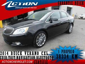 2014 BUICK VERANO SEDAN LEATHER CUIR,TOIT,NAVI,BLUETOOTH