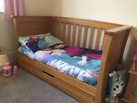 Mamas and Papas Ocean Cot Bed, Wardrobe and Chest of Drawers/Changing unit
