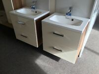 Ex Display wall mounted sinks and cabinet