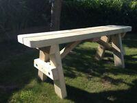 Wooden Bench / Flowerpot Stand / Outdoor Workout Bench