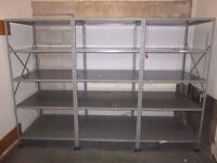 """Store Room Metal Storage Single Bay with 4 Shelves Height 6ft 3"""" Inches Width 3ft Depth 3ft"""