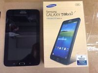 Samsung galaxy tab3V wifi & sim Unlocked 8gb, Android black color brand new