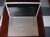 APPLE MACBOOK PRO 15 INTEL CORE DUO 1.83GHZ 2GB RAM WIFI WEBCAM OS X