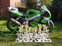 Kawasaki ZX7R Golden Era/Pre Injection Superbike Race Bike, Track Bike. Full Race Winning Package