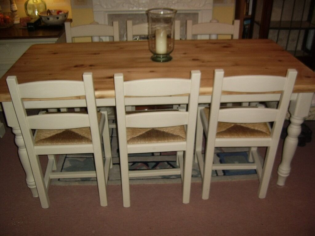 Stunning Solid Pine Kitchen Dining Table Amp 6 Chairs Annie