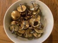 Used brass drawer knobs