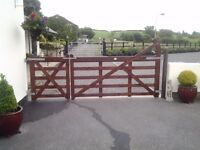Ranch Style Timber Gates