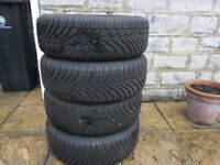 Continental winter tyres 205 55 16 on VW Audi Skoda steel wheels
