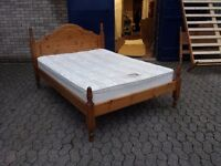solid pine double bed with 10 inch thick venus orthopaedic mattress
