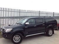 2012 TOYOTA HILUX D/C 3.0 D4-D INVINCIBLE AUTO 4X4 GREY ++ LOW MILEAGE! ++ FULL LEATHER INTERIOR! ++