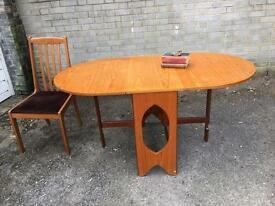 MIDCENTURY DROP LEAF TABLE FREE DELIVERY 🇬🇧