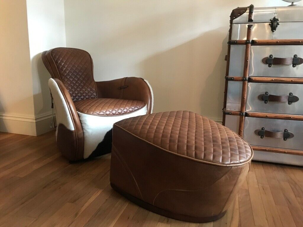 Groovy Timothy Oulton Saddle Chair And Footstool In South Kensington London Gumtree Onthecornerstone Fun Painted Chair Ideas Images Onthecornerstoneorg
