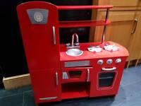 ELC Childrens Red Wooden play kitchen