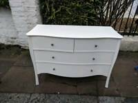 Laura ashley white rosalind chest of drawers.approx 48 in long.