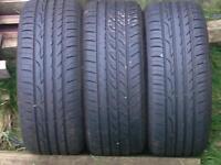 185/55/15 partworn tyres 6 mil tread