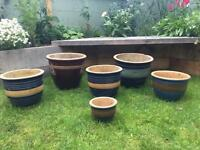 Garden pots-SOLD subject to collection