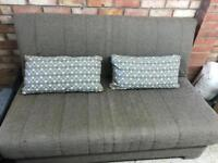 John Lewis sofa bed with cushions