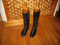 Mens Leather Riding Boots