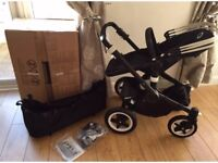Bugaboo buffalo. Pram and pushchair. All Black chassis and bases
