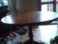 Carved dining table,solid oak,extendable,115-155cm, genuine Old Charm, made in England !!! no chairs