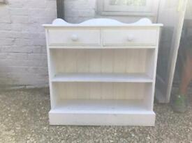 White wood bookcase unit