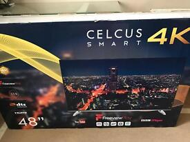Brand new sealed!! Celcus Smart 48 inch 4k TV with free view play