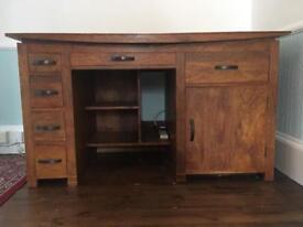 Art Deco Solid Oak Desk