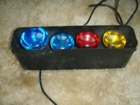 disco lights with bulbs. Micro 4 Mk 3 NJD Elect.(only outside lights working)