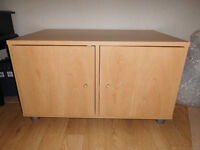 Large low storage cupboard / TV stand