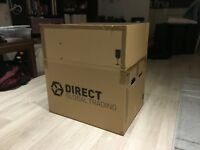 20 Direct Global Trading boxes (10 extra large and 10 large) + 3 other boxes