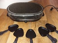 Raclette. 8 Pan unit. Hot stone top. Great condition