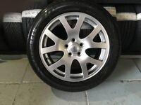 ALLOYS X 4 OF 19 INCH GENUINE RANGEROVER OR DISCOVERY FULLY POWDERCOATED IN A STUNNING SHADOW/CHROME