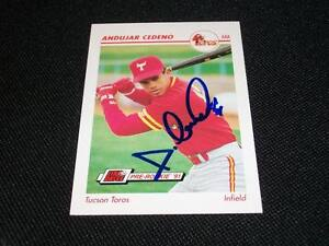 Astros-Andujar-Cedeno-d-00-Auto-Signed-1991-Impel-RC-Card-606-TOUGH-SIG-N