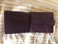 Tie Rack Leather Wallet - unused in original packaging
