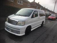 Nissan elgrand rider top spec 8 seater swap px discovery
