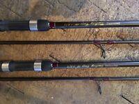 Pair of Browning Carboxy carp rods 1.75tc
