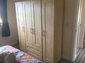 4 door maple wardrobe