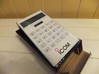 ham radio Icom marked solar / battery powered calculator
