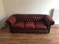 2x Stunning Vintage Oxblood Chesterfield Sofas - 1X two seater sofa 1X three seater sofa