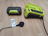 Ryobi 36v battery (BPL3626) and charger - only lightly used