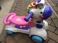 Vtech Zebra ride along scooter